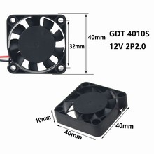 5pcs Gdstime Cooler 2 Pin 12v 40mm 9 Blade 4cm 40 x 40 x 10mm DC Brushless Cooling Fan 4010