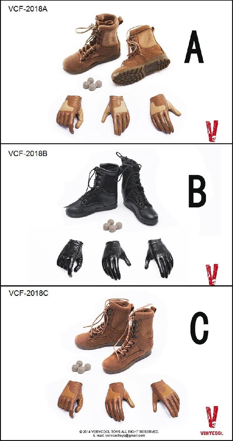 Boots and gloves hand for 1/6 scale Female action figure doll,12 Female dolls DIY Dolls accessories<br>