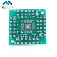 10pcs 25.7*25.2mm QFN48 To DIP48 QFN44 0.5mm QFP48 QFP44 PQFP Pinboaard Adapter Plate PCB Electronic Circuirt Board