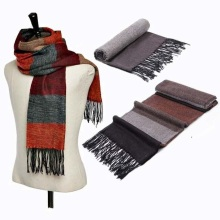 Striped imitation cashmere pashmina winter scarf women men scarves and stoles 2016 fashionable brand tassel shawls wrap,bandana(China)