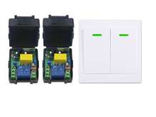 AC 220 V  1 CH    wireless  relay remote control switch 2 Receiver +1  transmitter  wall controller