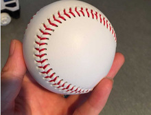 "9"" New White Base Ball Baseball FREE SHIPPING 1 Piece Practice Trainning PVC Softball/Hardball hand sewing Sport Team Game"