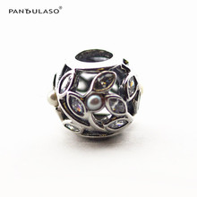 Pandulaso Pearl Jewelry Luminous Leaves Silver Beads for DIY Jewelry Making Fit Charms Silver 925 Original Bracelets & Bangles