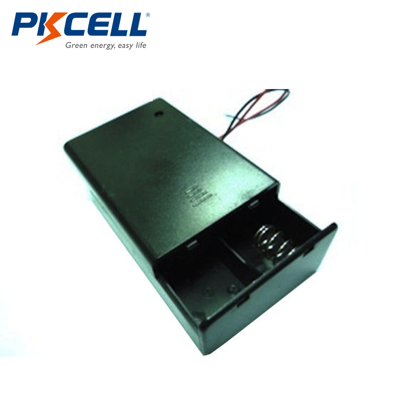 PKCELL 10pcs C Size DC 2 Cells Battery Holder Case Box with Wire Cover & Switch(China)