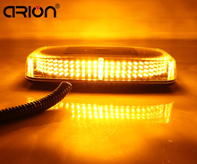 Amber Yellow 240 LED Magnetic base Car Roof Flashing Strobe Emergency Light 240LED Police Beacons Warning Mini Lighting Lamp(China)