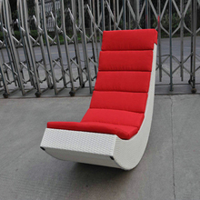 Rattan Rocking Chair , Aluminum Frame Comfortable Rocking Sofa transport by sea(China)