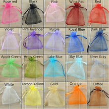 100 Pcs Strong Sheer Organza Wedding Jewelry Candy Beads Gift Pouch Bags smt83