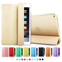 ZOYU Ultra Slim PU Leather Case for ipad 6 Back for ipadmini Case for iPad mini 123 cover case smart  for ipad air 2 case