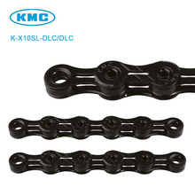 Original K-X10SL-DLC 10 Speed KMC Chain Black for Trekking 116 Links Super Light Diamond Like Coating 10S Chain + Missing Link(China)