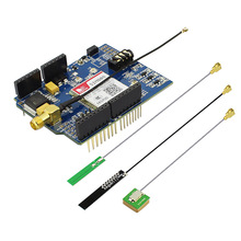 Elecrow SIM808 GSM GPS Bluetooth Shield for Arduino Sim808 Module 3 in 1 Developed Board with 3 Antenna DIY Kit
