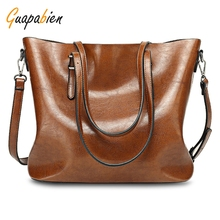 Guapabien Casual Bag Tote Cheap Big Messenger Shopping Bag Simple Design Ladies Large Storage Solid Women Leather Handbag