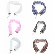 X61 The New Women's Sexy Hollow Out Lace Multi-color Choker Necklaces Punk Style Fashion Choker Necklaces  Wide Necklaces