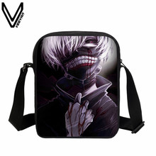 VEEVANV 2017 New Anime Tokyo Ghoul Messenger Bags Cool Mini School Bag For Teenager Boy Girls Fans Best Gifts Kids Bag For Sale