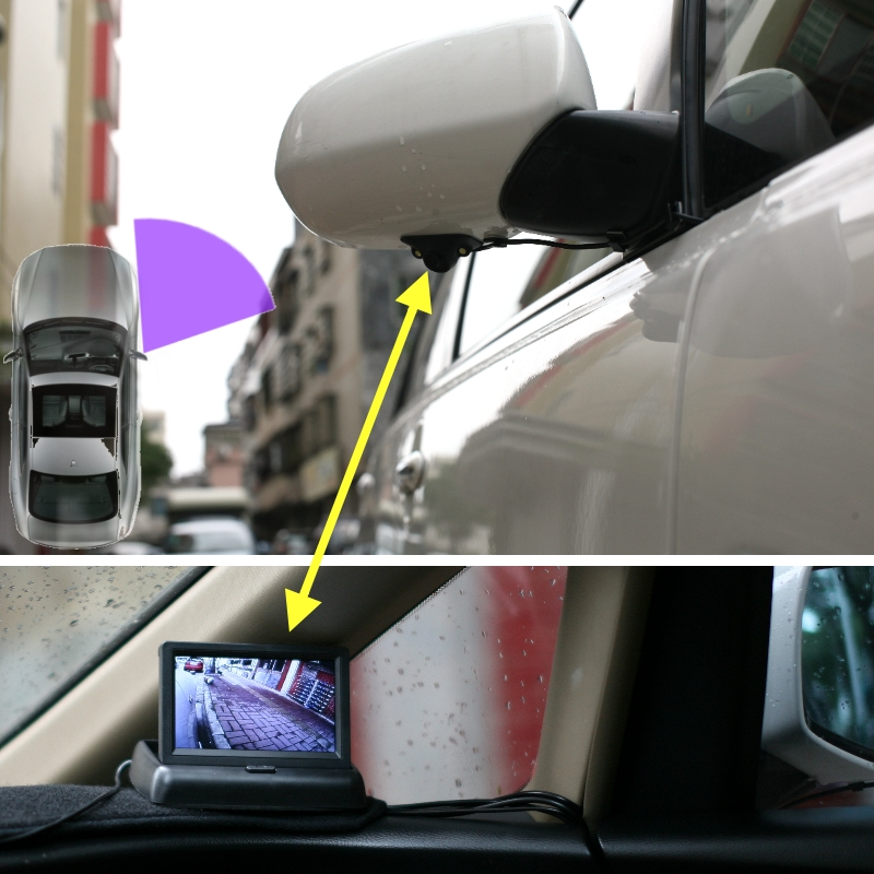 For Chevrolet Joy Trax Tracker Volt Malibu LiisLee Car Side View Camera Blind Spots Areas Flexible Copilot Camera Monitor System (11)