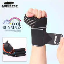 2Pcs/lot Sports Wrist Bands Wrist Support Strap Wraps Hand Sprain Recovery Wristband For Cycling Crossfit Tennis Gym Accessories