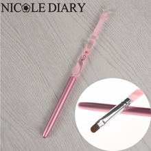 1Pc Nail Art UV Gel Brush Pen With Cap Pink NO.6 UV Gel Nail Art Manicure Tool  8313439