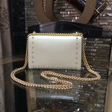new arrive top quality Pearl real cow leather messenger cross body bags woman hardware golden chian handbag min size female bags
