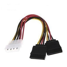 F04227 IDE Molex to 2 Serial ATA SATA Y Splitter 4 Pin Hard Drive Power Adapter Cable Cord
