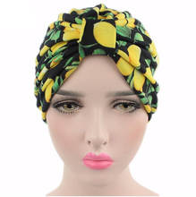 Vintage Women Turban Hats flower Dome Hat Head Wrap Chemo Hats Bandana Hijab knotted Indian cap for summer and spring