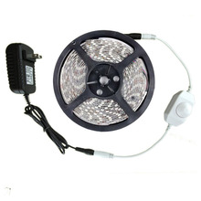 12V 5m Dimmable LED strip 300 LEDs tira 2835 Kit Waterproof for Indoor Outdoor + led dimmer + Power adapter Free shipping(China)