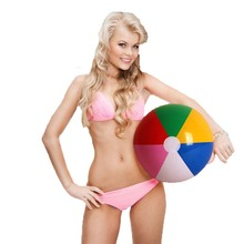 3 Pieces/Set 40cm Colorful Inflatable Beach Ball For Adlut Children Game Play Beach Volleyball Outdoor Fun Water Sport Toys(China)