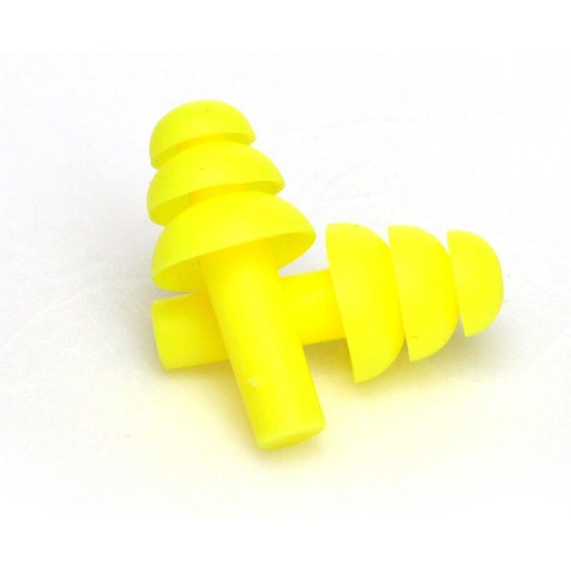 Un par de espiral convenientes tapones para los o/ídos de silicona antirruido ronquidos tapones para los o/ídos c/ómodos para dormir Reductor de ruido Accesorio Azul