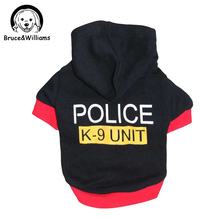 Police K-9 UNIT Cool Design Soft Cotton Dog Clothes Autumn Winter Warm Coat Lovely Jumpsuit Clothing For Pet Dogs Cat DC088