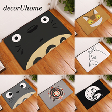decorUhome Welcome Waterproof Door Mat Cartoon Cute Totoro Kitchen Rugs Bedroom Carpets Decorative Stair Mats Home Decor Crafts
