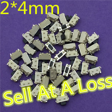 50pcs SMT 2x4MM 2 PIN Tactile Tact G72 Push Button Micro Switch Self-reset Momentary Sell At A Loss USA Belarus Ukraine