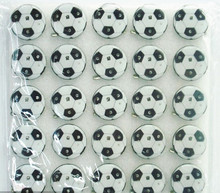 300pcs New football shape pins toy led light flashing badge light-up party favor toys as soccer ball fans cheap gifts(China)