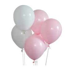 Panduola 30Pcs 2.2g Pink White Latex Balloons Helium Air Ballon Inflatable happy Birthday Party Decoration kids globos ballon