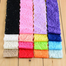 Newest Lace Headwear 16 Colors Lace Width Hair bands hair accessories elastic hair band 30PCS/LOT BD02