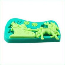 Christmas Style Of Cake Tools Silicone Decoration Mold  3D Angel Shape Silicone Design For Cake