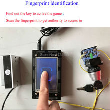 Finger Print Scanner prop Escape room game Fingerprint identification puzzle identify the fingerprint to release lock(China)
