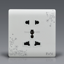 Universal Plug Kempinski Luxury Wall Electrical Socket, Multi-function 5 hole Power Outlet,AC 110~250V