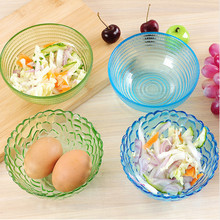 Diamond Crystal clear glass bowl of fruit salad sets utensils Food Container rice bowl Household Tableware Kitchen Dinnerware