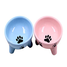 SADEKIRAY Brand Small Cute Pets Dogs Bowl Three-Diamensional Ceramics Gogs Food Bowls Feeded For Gogs Cats(China)
