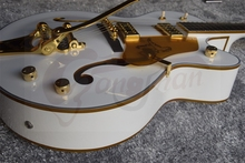 factory Custom Gretsch Guitar white Falcon 6120 Semi Hollow Body Jazz Electric Guitar With Bigsby Tremolo 14917 In Stock(China)