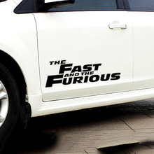 Car styling the Fast And The Furious reflective big size car sticker for side door chevrolet cruze ford focus 2 3 mazda 3