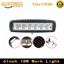 "10PCS 18W 6"" FLOOD Spot Beam Led Work Light Bar For Boat Car Truck Lamp SUV UTE ATV offroad led work lamp driving 4x4 12v(China)"