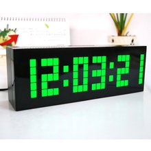 Multi-function Large Big LED Digital Alarm Table Wall Clock Countdown Weather Date Temperature Timer Display Desk Clock(China)