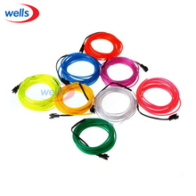 Free Shipping Lemon/Red/Yellow/Green/White/Blue/Purple/Pink 3M Flexible Neon Light EL Wire Rope Tube with Controller