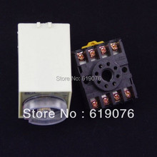 12VDC Power off delay Time-lapse time relay 0-1 second with base  high quality