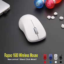 Rapoo 1680 Silent click Mouse 2.4G Wireless Optical Mouse 1000 DPI Noiseless Mice for Mac PC Laptop Computer USB gaming Mouse(China)