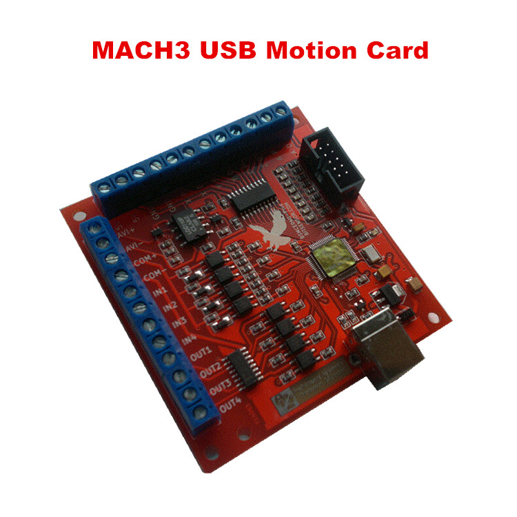 100KHz mach3 usb 4 Axis Stepper motor control card USB CNC motion Controller card for cnc machine<br><br>Aliexpress