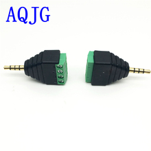 10pcs3.5mm 3ploe 1/8 Inch Stereo Male Plug to AV Screw Video Balun Terminal Jack 3.5 mm Male 3 pin Terminal Block Plug Connector(China)