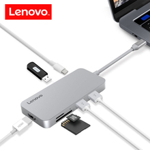 Lenovo Original 7 in 1 USB-C Hub Type C Female USB 3.0 TF/SD Card Reader HDMI Port for Macbook Windows Laptop HDTV Projector(China)