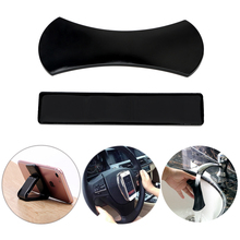 2pcs Magic Nano Rubber Pad Anti Slip Mat Sticker No Trace Car Mobile Phone Holder Lazy Bracket Pods Sticky Gel Pad Wholesale(China)