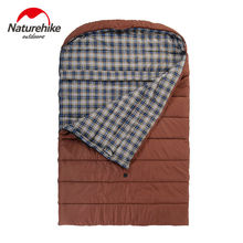 Naturehike Outdoor Family Style Travel Cotton Sleeping Bag 3 Season Envelope Type Double Flannel Sleeping Bag Ship By Express