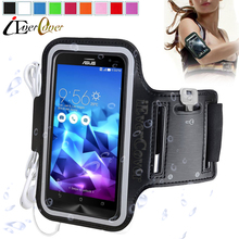 "Sport Running Arm Band Case for Asus ZenFone 2 Laser ZE500KL ZE500KG 2E ZE500CL Phone Waterproof Cover Bag for LG Nexus 5X 5.2""(China)"